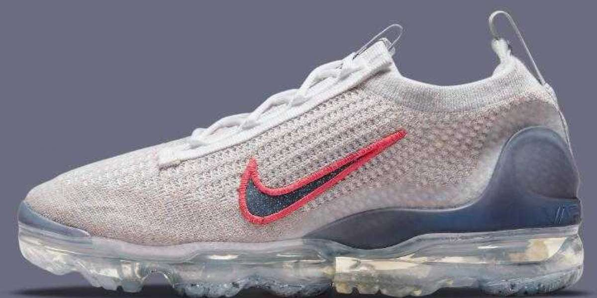Newest Greyscale Nike VaporMax Flyknit 2021 Dress up With Red Swooshes